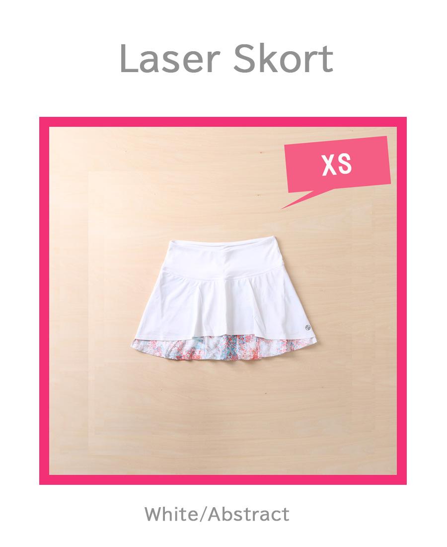 テニスウェアレディースLIJAスコートLaserlSkort位WhiteAbstract.jpg