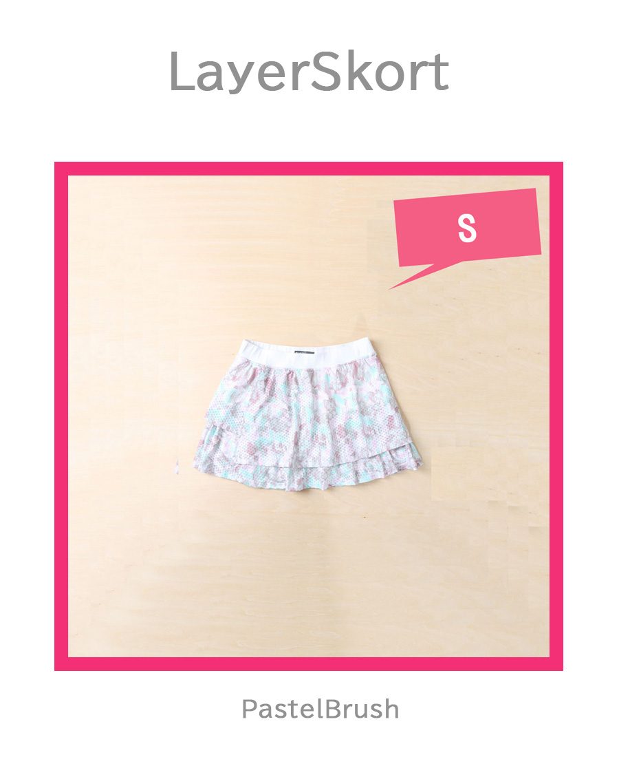 LayerSkort Pastelの平置き写真です