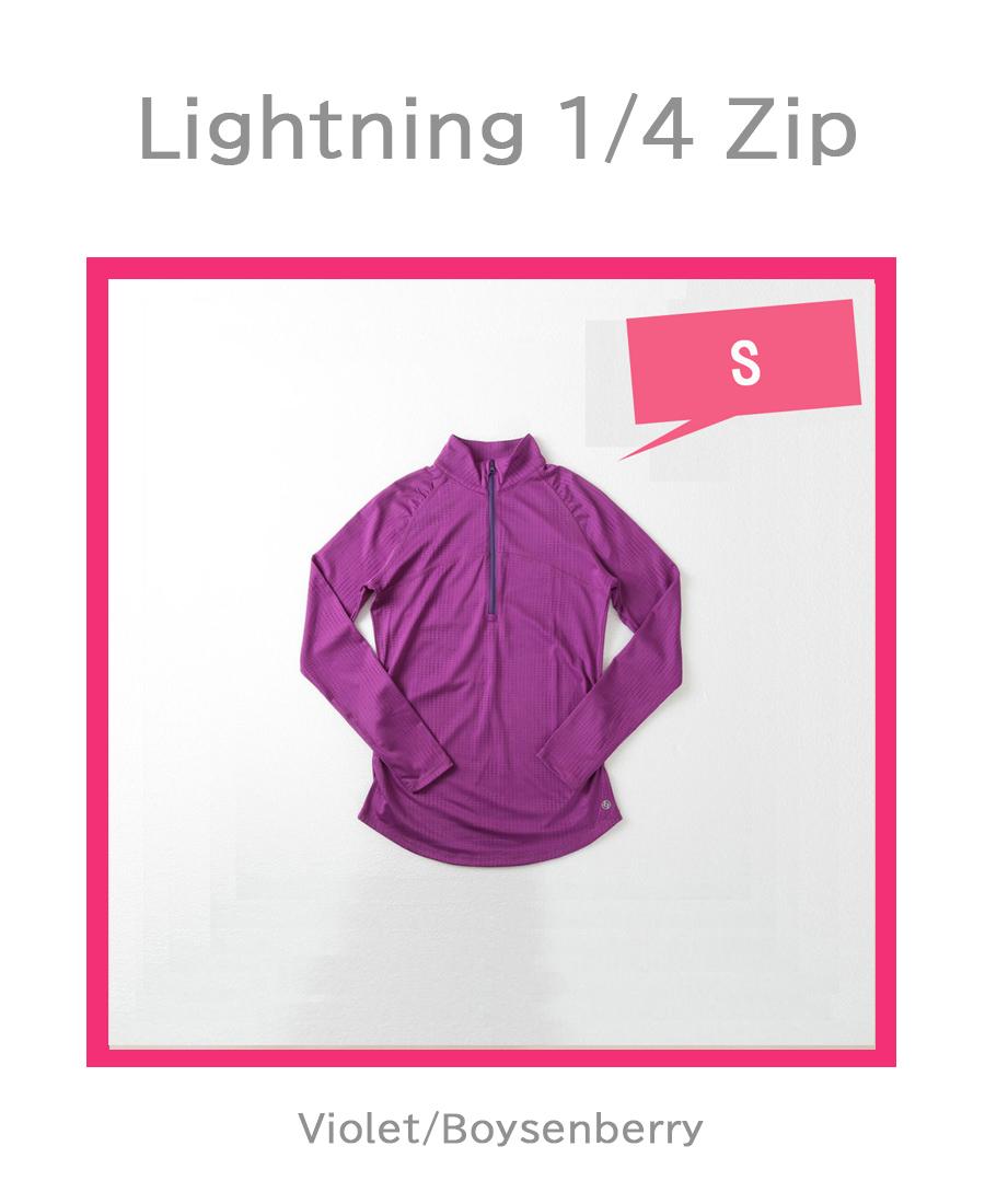 LightningZip VioletBoysenberryの平置き写真です